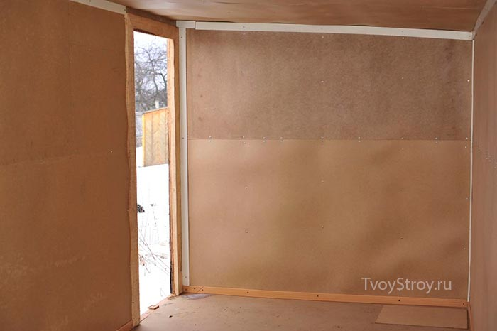 Как сделать стену из двп