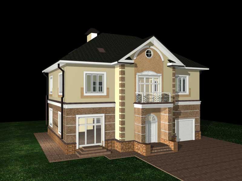 Проекты деревянных домов - Коттеджи из дерева, бруса