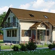 Строительство дома коттеджа участок